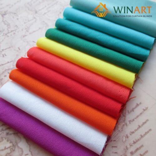 Lựa chọn vải may rèm cửa là vải cotton hoặc vải polyesster