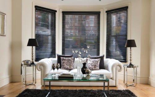 Hình ảnh rèm cửa phòng khách đẹp - rèm gỗ