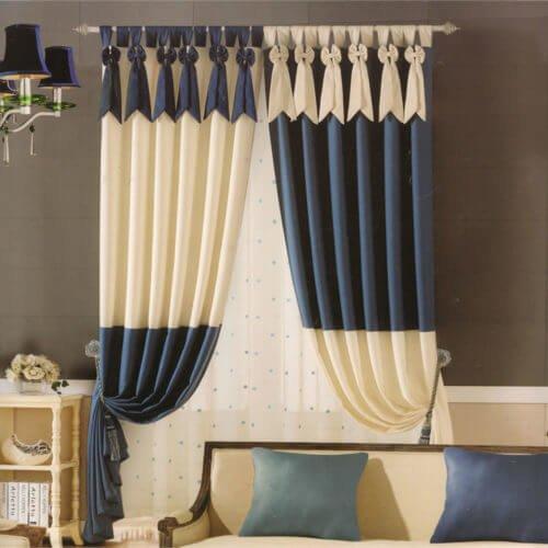 Mẫu rèm vải 2 lớp đẹp đơn giản cho phòng ngủ