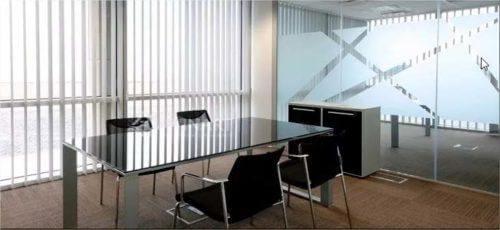 Mẫu rèm lá dọc văn phòng sang trọng hiện đại