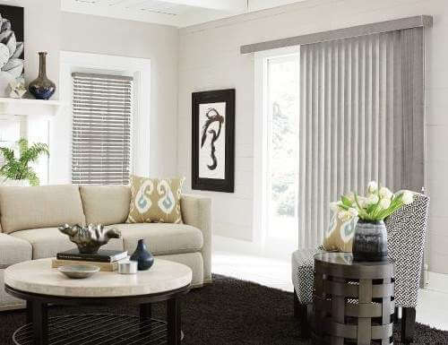 Mẫu rèm lá dọc cho phòng khách đẹp