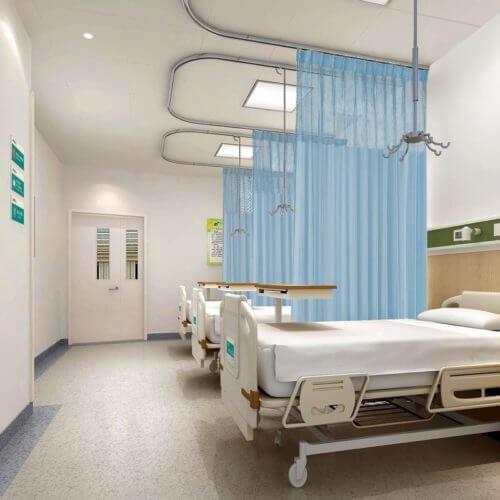 Mẫu rèm y tế tại bệnh viện hình chữ Ua