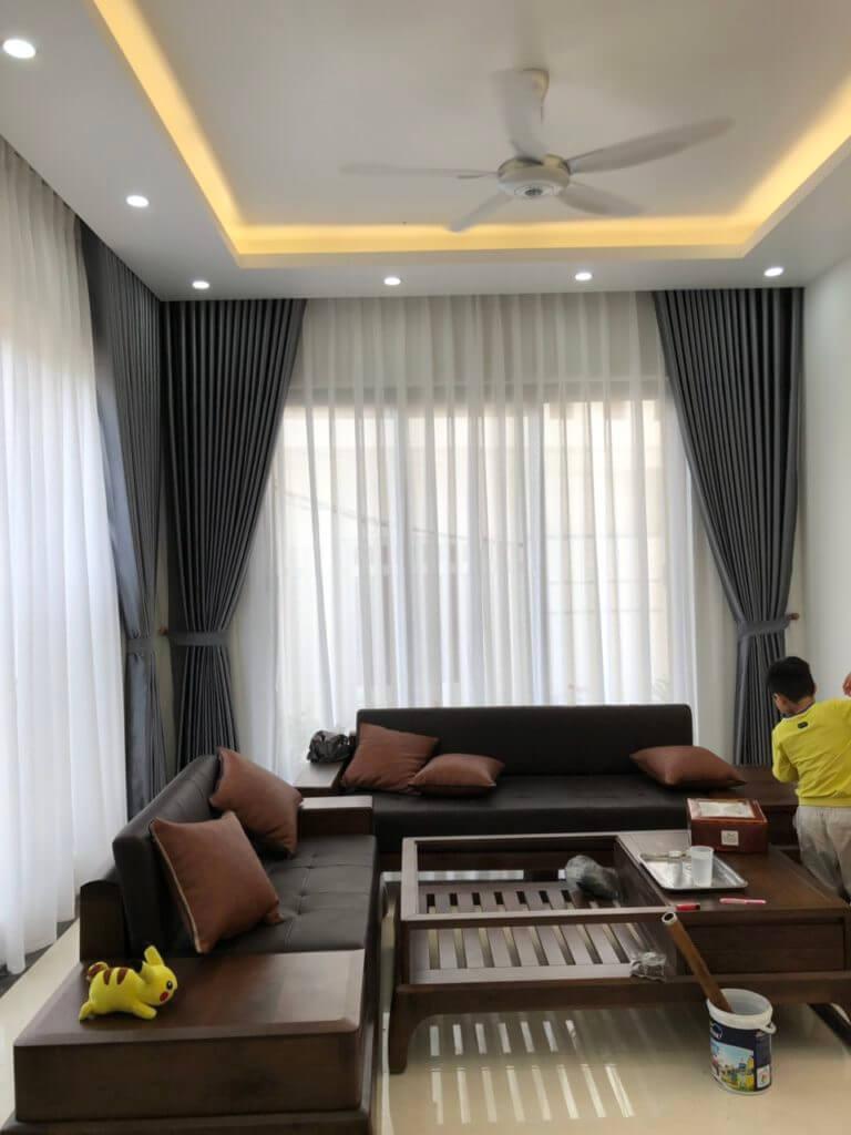 Rèm vải cao cấp cho phòng khách 2020 đón tết