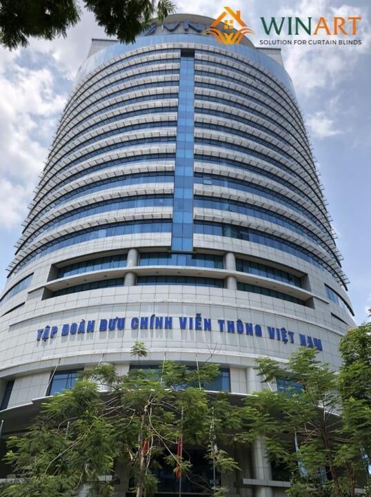 Lắp đặt công trình Rèm cầu vồng cho Tòa nhà VNPT Tập đoàn bưu chính viễn thông Việt Nam