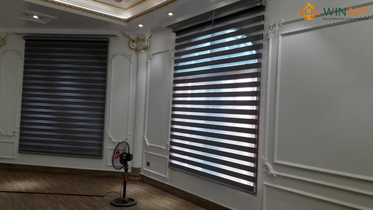 Công trình rèm cửa đã hoàn thiện bên trong căn biệt thự