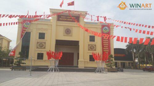 Công trình Rèm cửa WinArt tại nhà văn hóa huyện Bình Lục Hà Nam