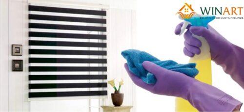 vệ sinh rèm bằng hóa chất tẩy rửa