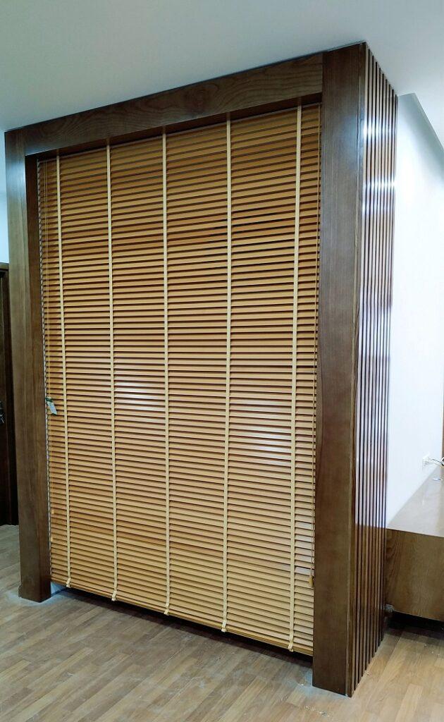 Rèm gỗ phòng thờ