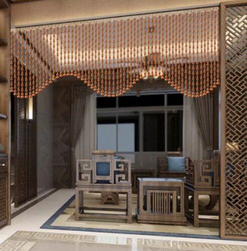 Không gian cổ kính và sang trọng với rèm cửa phù hợp