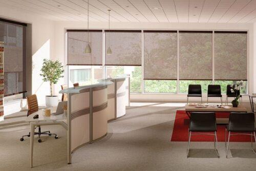 Màn cửa nhà kính giúp không gian văn phòng đẹp và sang trọng