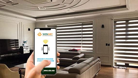 Rèm cửa tự động kết nối smartphone