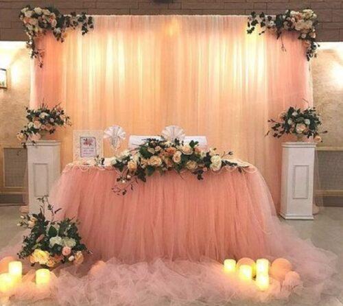 vải voan trang trí đám cưới đem lại sự lung linh và quyến rũ