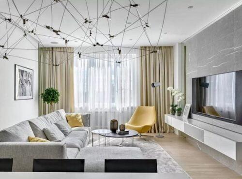 Rèm vải phòng khách tôn vẻ sang trọng và quyến rũ cho căn phòng