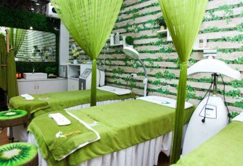 Rèm sợi spa cũng được dùng nhiều, giúp tôn nên vẻ đẹp căn phòng