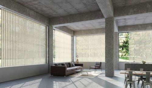 Mành lá dọc có thể sử dụng ở không gian văn phòng rộng