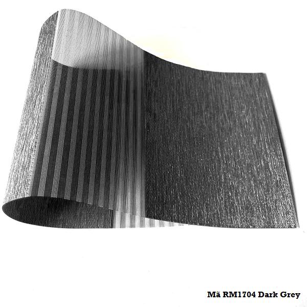 Rèm càu vồng Romance mã RM1704 Dark Grey